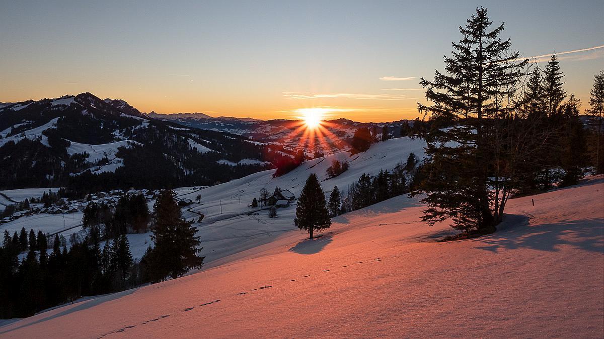 Schneeschuhtour bei Finsterwald